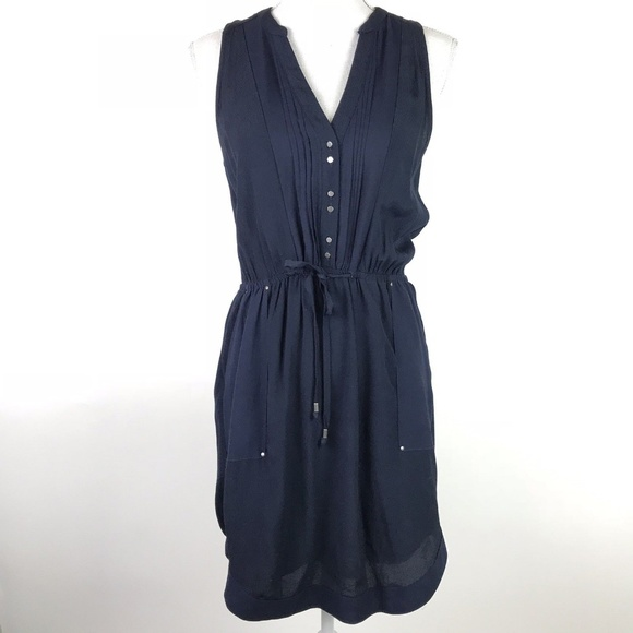 1d52d547e130 Anthropologie Dresses | Maeve Dress Blue Button Down Pleated | Poshmark
